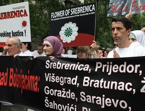 BM Önünde Srebrenitsa Eylemi