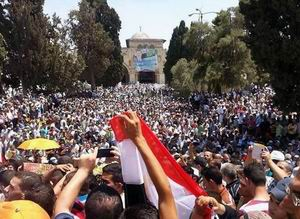 Mescid-i Aksa'dan Mursi'ye Büyük Destek (FOTO-VİDEO)