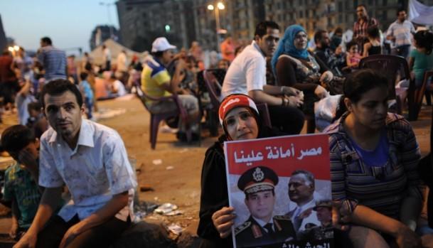 Darbe Destekçileri, Tahrir Meydanında