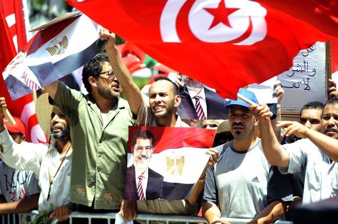 Tunusta Mursi'ye Destek Gösterisi