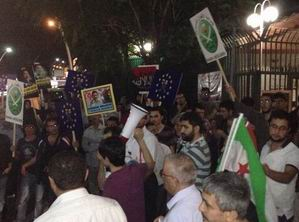 Ankara Mısır Elçiliğinde Protestolar Sürüyor