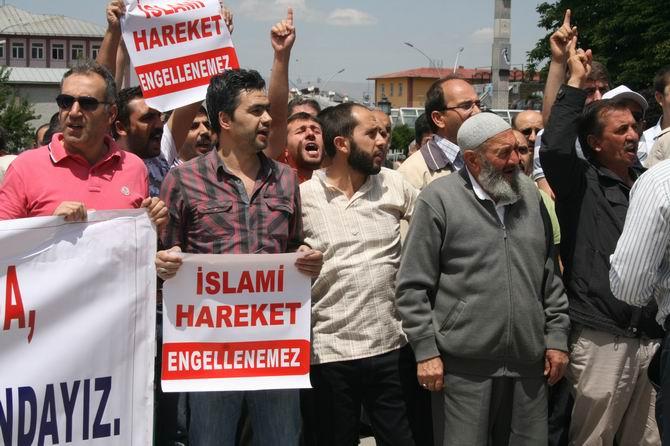 Erzurumdan Adeviyye Katliamına Protesto