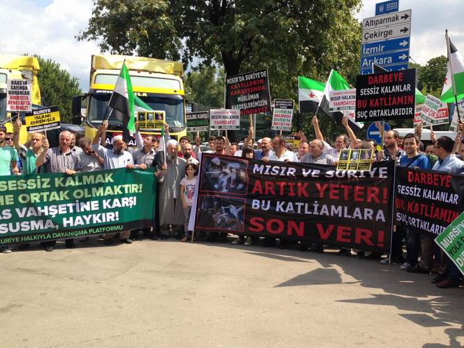 Bursa'da Mısır'daki Katliama Tepki, Suriye'ye Yardım