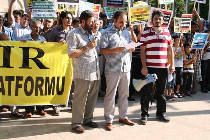 Antalya Mısır'daki Zalim Cuntayı Protesto Etti