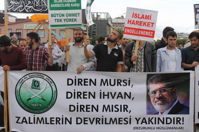 Erzurumda Adeviyye Katliamı Protesto Edildi