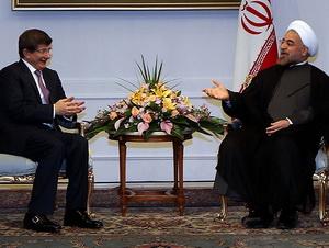 Davutoğlu, Ruhani İle Suriye'yi Görüştü