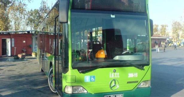 Okmeydanında Yine Otobüs Yaktılar