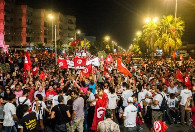 Tunusta Nahda Karşıtları Gösterilere Tekrar Başladı