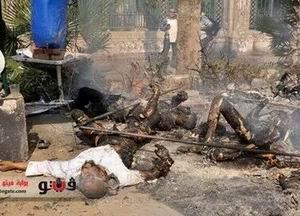 Nahda Meydanında Göstericileri Yaktılar