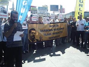 Sivasta Mısır Cuntası Protesto Edildi