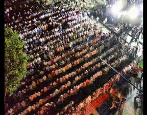 Saraçhanede Adeviyye İçin Nöbet (FOTO)