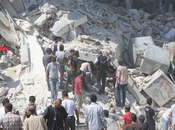 Halep'te Hava Saldırısı: 33 Ölü (VİDEO)