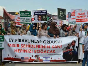 Erzurumda Arbedeli Mısır Protestosu
