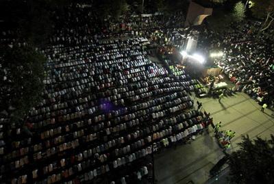 Adeviyye Nöbetinde Grup Yürüyüş Konseri (FOTO)