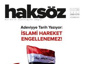 Haksöz Dergisinin Ağustos-Eylül Sayısı Çıktı