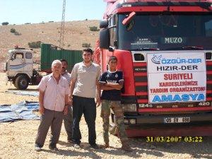 Amasyadan Suriye Halkına Yardım