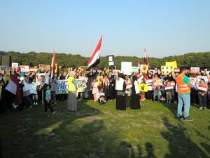 Hollandada Mısır Protestosu