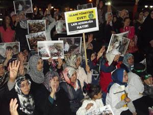 Sivasta Katil Esed Protesto Edildi