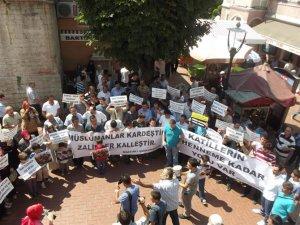 Bartın'da Mısır ve Suriye Katliamları Lanetlendi