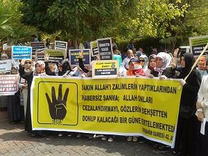 Akhisarda Suriye Protestosu