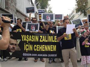 Ankarada Suud Büyükelçiliği Önünde Eylem