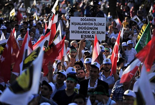 Saraçhanede Binler Mısır ve Suriyeyi Selamladı