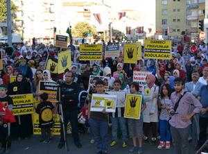 Niğde'de Mısır ve Suriye İçin Miting (FOTO)
