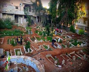 Suriye'de Çocuk Parkları Mezarlık Oldu