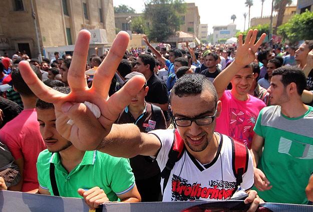Mısırda Öğrencilerin Darbe Karşıtı Gösterileri Sürüyor