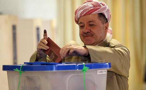 Irak Kürdistanı'nda Barzani Önde