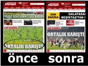Hürriyetten Skandal Derbi Manşeti