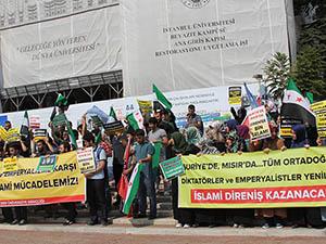 Öğrenciler Suriye ve Mısır Direnişini Selamladı