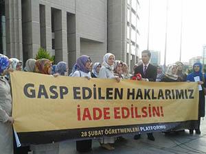 Çağlayanda 28 Şubat Protestosu