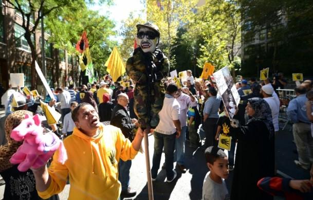 New Yorkta Mısırlılar Sisi'yi Protesto Etti