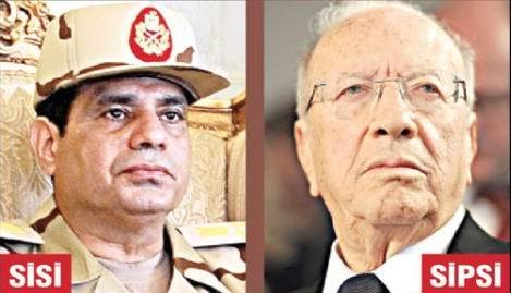 Mısır'da Sisi, Tunus'ta Sipsi!