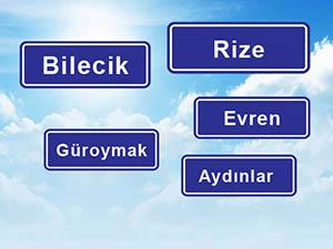 Türkiye'nin Dört Bir Yanında İsim Heyecanı