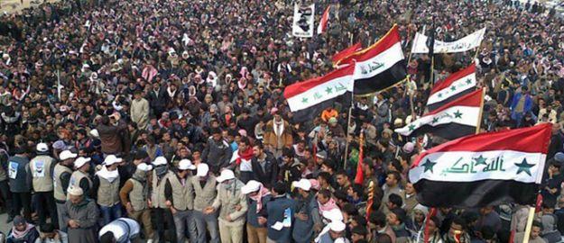 Irak'ta Protestocuların Üzerine Ses Bombası