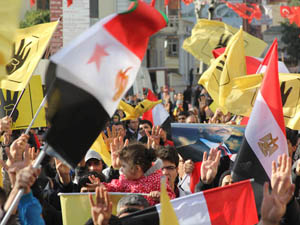 Fatihte Mısır Halkına Destek Eylemi