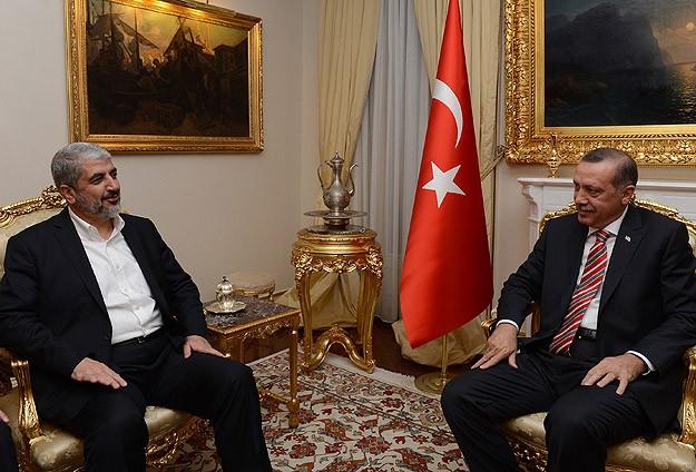 Erdoğan, Halid Meşal İle Görüştü