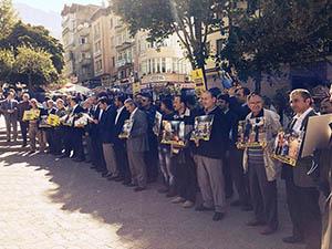 Amasya'da Darbe Protestosu