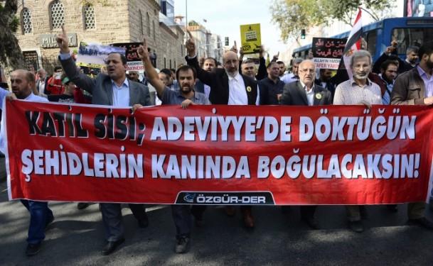 Türkiye Mısır'daki Darbenin 100. Gününde Meydanlarda
