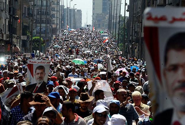 """Mısır'da """"Şehit Bayramı"""" Yürüyüşü"""