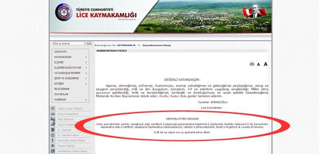 Kamuda Kürtçe İlk Defa Kullanıldı