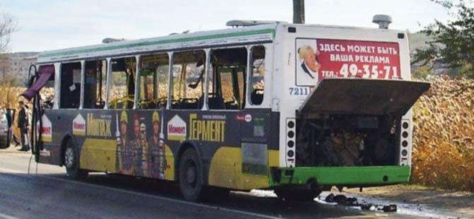 Rusya'da Otobüse Canlı Bomba Saldırısı