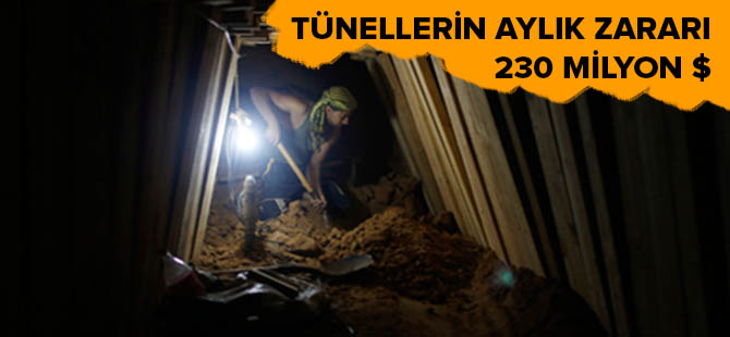 Gazze Tünellerinin Kapatılmasının Aylık Maliyeti 230 Milyon $