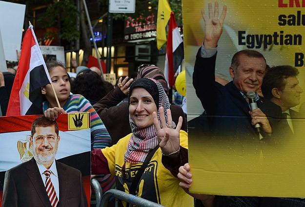 ABD'de Mursi'ye Destek Gösterisi