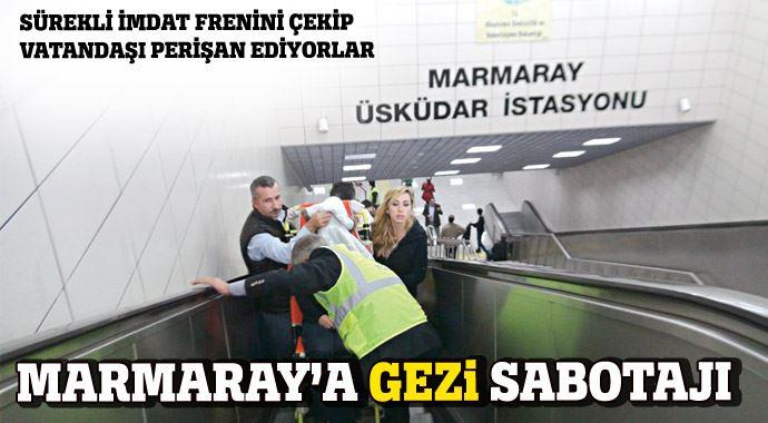 Marmaray'a Gezi Sabotajı