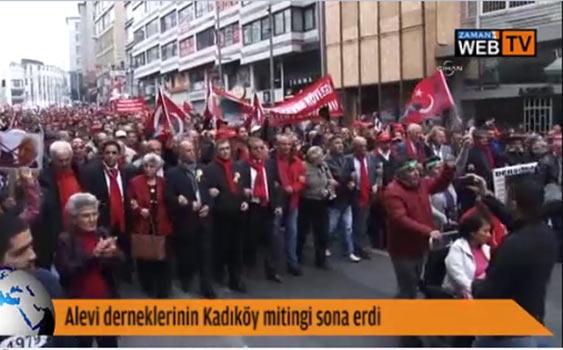 Alevi Dernekleri Kadıköy'de Miting Yaptı