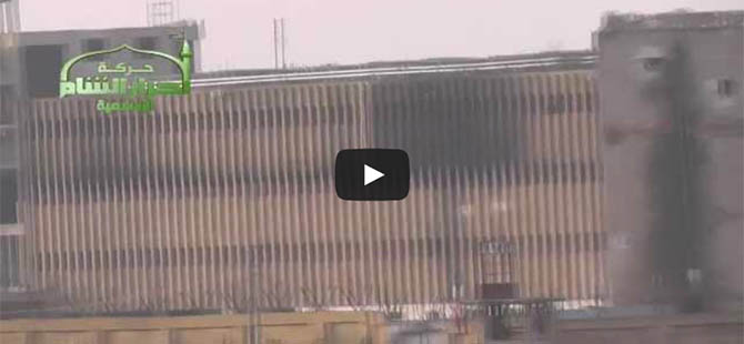 Halep Merkez Cezaevinde Yoğun Çatışmalar (VİDEO)
