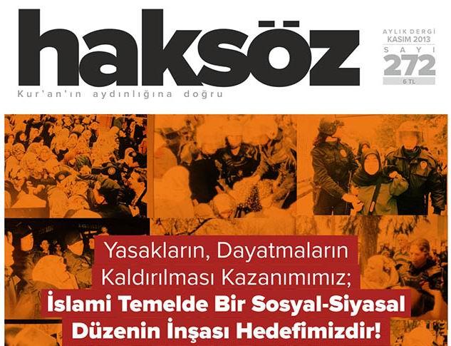 Haksöz Dergisinin Kasım Sayısı Çıktı!